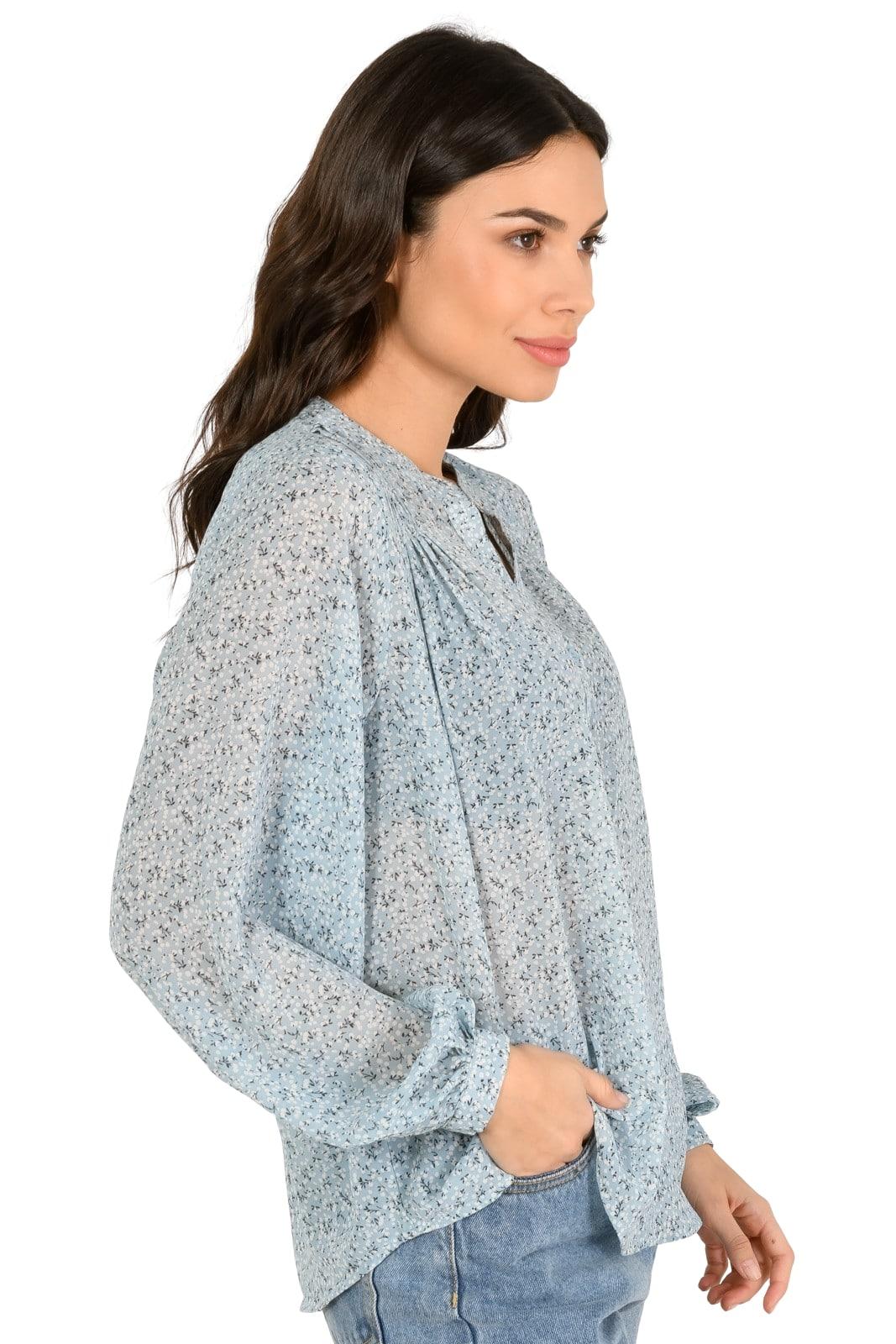 Ημιδιαφανές φλοράλ πουκάμισο (MULTI)