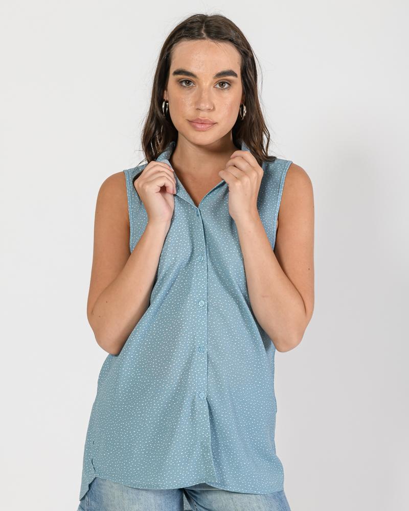 Αμάνικο πουά πουκάμισο (MULTI)