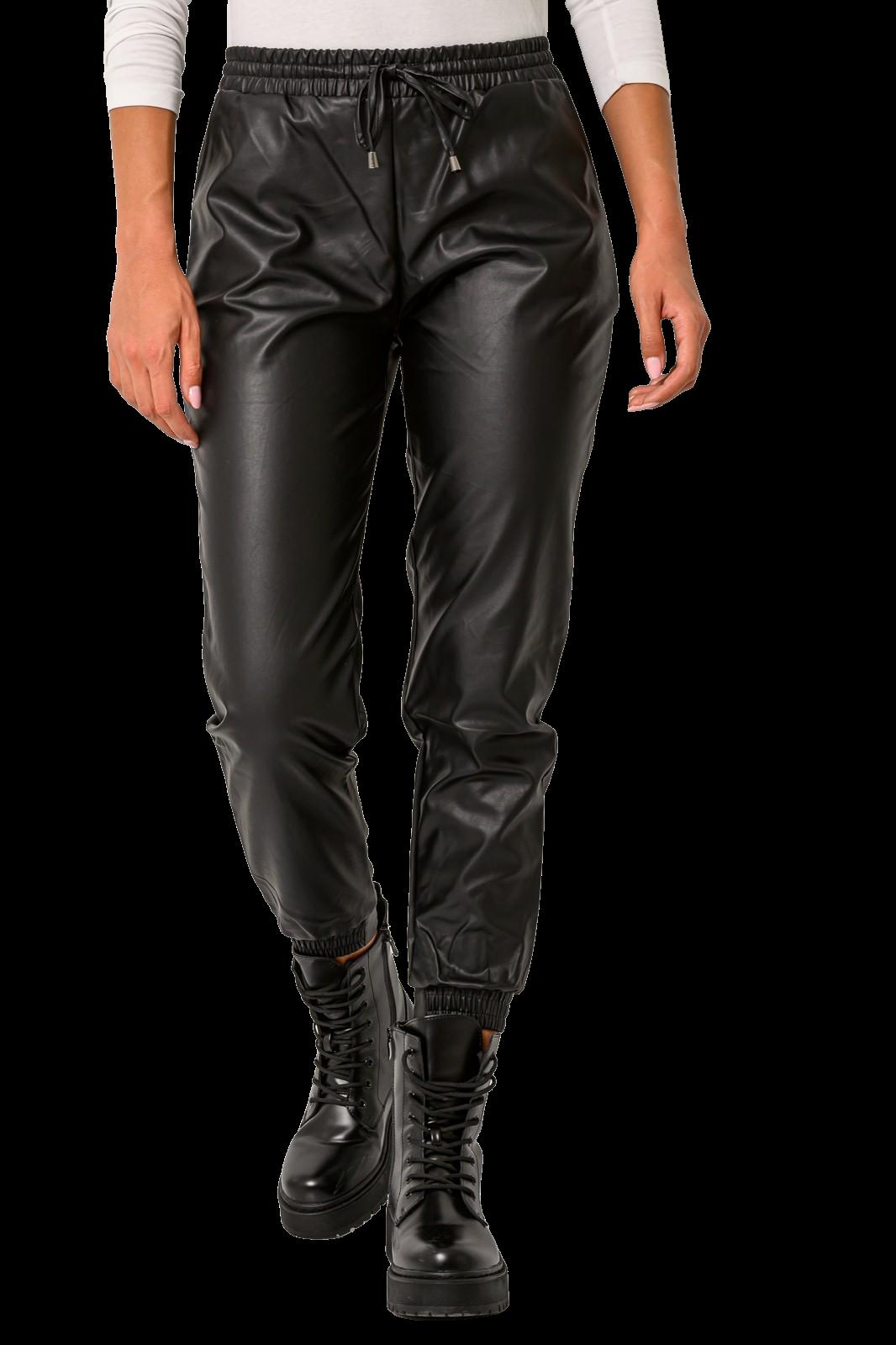 Παντελόνι leather look (BLACK)