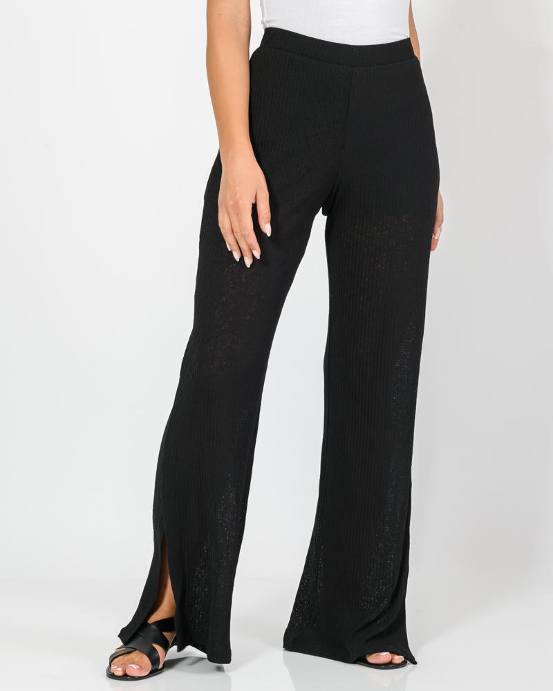 Ψηλόμεση ημιδιαφανής παντελόνα (BLACK)