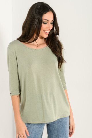 Basic blouse with 3/4 sleeves MINT XS