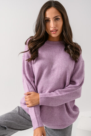 Oversized knitted top LILAC S