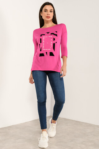 Printed top FUCHSIA S
