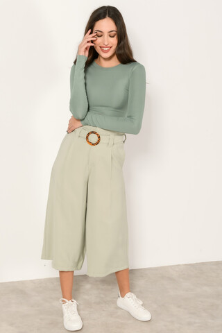 High waisted culotte trousers L.MINT XS