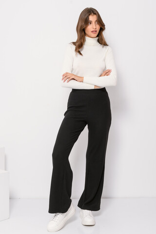 Wide leg trousers BLACK XS