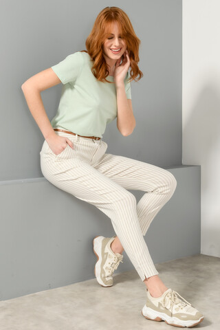 Chinos striped trousers BEIGE/WHITE 36