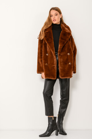 Oversized faux fur jacket CHOCOLAT S-M