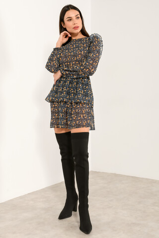 Dress with frilled details MULTI M