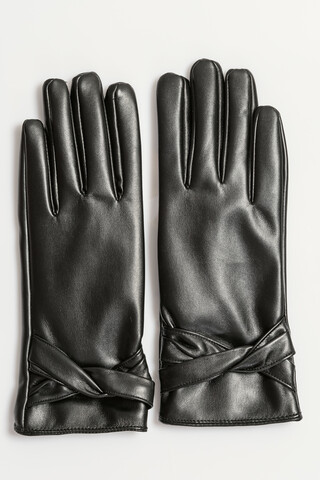 Faux leather γάντια ONESIZE BLACK