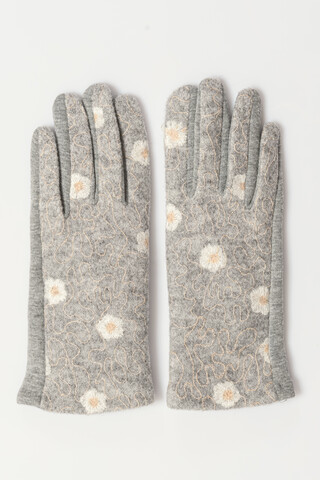 Gloves with shinny details GRAY ONESIZE