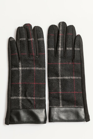 Gloves with check detail MULTI ONESIZE