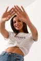 T-shirt με τύπωμα XS WHITE