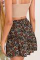 Μίνι φλοράλ φούστα με βολάν S MULTI