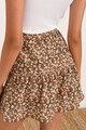 Μίνι φλοράλ φούστα με βολάν XS MULTI