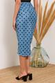 Midi φούστα με σούρα και σκίσιμο XS MULTI