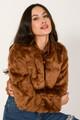 Faux fur jacket CARAMEL S