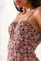 Μίνι φλοράλ φόρεμα S MULTI